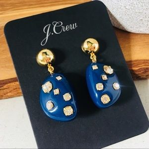 J. CREW Studded Stone Drop Earrings